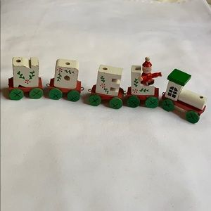 NOEL Christmas wooden train decoration w defects